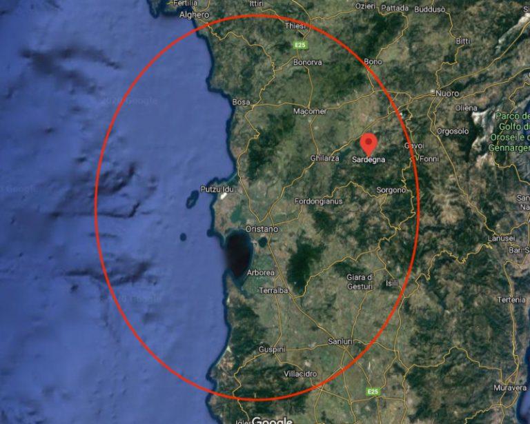Itinerario sardegna ovest la mappa della zona